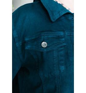 veste jean grande taille verte