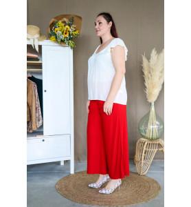 Pantalon fluide Miro rouge