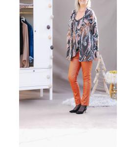 Gilet femme Lucas imprimé Arty rose/orange côté en location